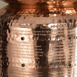 Ayurveda Wellness Copper Water Filter Tank 7 Crystals