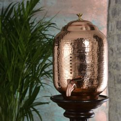 Ayurveda Wellness Copper Water Tank (8L), Flower of Life and 7 Chakra Crystals